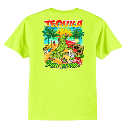 A.TEQUILA UNISEX NEON YELLOW TEE